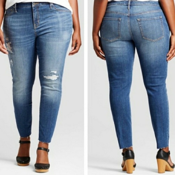 1c807af9cf5 Ava   Viv Denim - AVA VIV skinny jeans distress plus size 22W
